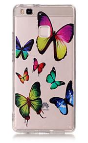 כיסוי אחורי דק ביותר / Bisque / מובלט פרפר TPU רך Case כיסוי Huawei Huawei P9 / Huawei P9 לייט / Huawei P8 Lite