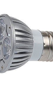 3 E26/E27 LED-spotpærer MR16 3 SMD 250LM lm Varm hvit Dekorativ AC 220-240 V 1 stk.