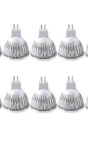 3W GU5.3(MR16) LED-spotpærer MR16 1 COB 380LM lm Varm hvit / Kjølig hvit Dimbar / Dekorativ AC 12 / AC 110-130 V 10 stk.