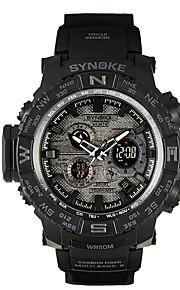 Masculino Relógio Esportivo / Relógio de Moda Quartz / Digital LCD / Impermeável / Cronômetro / Noctilucente / Fase da lua / Estrelado PU