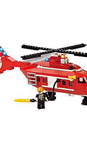 Building Blocks For Gift  / Car / Helicopter Education Toys For Boys 392pcs Plastic Red / White