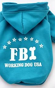 Gatos / Cães Fantasias / Casacos / Camiseta / Camisola com Capuz Vermelho / Amarelo / Azul / Preto Roupas para CãesInverno /