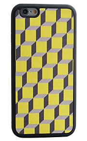 terning geometrisk mønster silke mønster TPU telefon tilfældet for iphone 6s 6 plus
