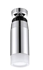 ledede anti splash temperaturkontroll 360 graders roterende tappekran (kobber galvanisering)