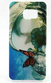 EFORCASE Painted Big Butterfly TPU Phone Case for Samsung Galaxy S7 edge S7 S6