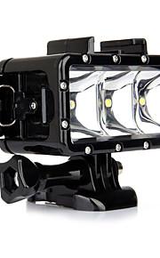 Go Pro Diving LED Light Underwater Video Light Lamp  One Battery  Buckle Mount For Gopro Hero 4 3 3 2 SJ4000 Sport Cam