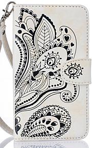 Ganzkörper Brieftasche / Kartenhalter Blume PU - Leder Hart Fall-Abdeckung für Apple iPhone 6s Plus/6 Plus / iPhone 6s/6 / iPhone SE/5s/5