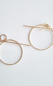 Øreringe Geometric Shape,Smykker 1 par Moderigtig / Personlighed Legering Gylden / Sølv Bryllup / Party / Daglig / Afslappet / Sport