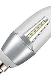 7W E14 LED-lysestakepærer C35 35LED SMD 2835 650LM lm Kjølig hvit Dekorativ AC 220-240 V 1 stk.