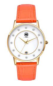 Mulheres Relógio Elegante / Relógio de Moda / Relógio de Pulso Quartz Calendário / Impermeável Couro Legitimo BandaVintage / Legal /