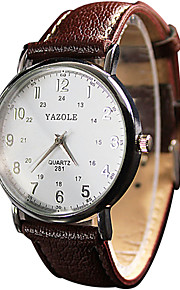 YAZOLE Mulheres Casal Relógio de Pulso Quartzo / PU Banda Vintage Legal Casual Preta Branco Vermelho Marrom Branco Preto Marron Vermelho