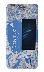 Ganzkörper mit Ständer / Windows / Flip / Muster Baum PU - Leder Hart Fall-Abdeckung für Huawei Huawei P9 / Huawei P9 Lite