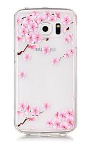 Takakuori Kuviointi Kukka Akryyli Pehmeä Tapauksessa kattaa Samsung Galaxy S7 edge / S7 / S6 edge / S6