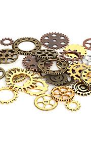 beadia 100g aassorted stilarter& farver legeret metal hjul gear charme