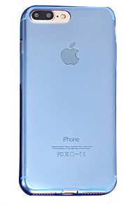Skal Genomskinlig Solid Färg TPU Mjuk Fallet täcker för Apple iPhone 7 Plus / iPhone 7 / iPhone 6s Plus/6 Plus / iPhone 6s/6