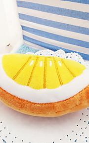 Cat / Dog Toy Pet Toys Plush Toy Squeak / Squeaking / Fruit Plush Orange