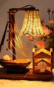 Skrivebordslamper LED Rustikk Tre/bambus