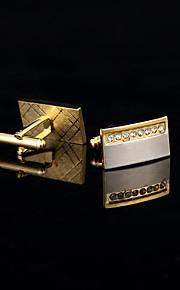 Manchetter 1 par,Ensfarvet Gylden Mode / Gaveæsker & Tasker Manchetknapper Mænds Smykker