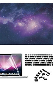 estrela da noite pvc caso difícil com plug anti-poeira e filme de tela para o ar macbook 11,6 pro 13,3 15,4 retina