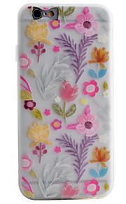 Per retro Satinato / Traslucido / A fantasia Fiore decorativo TPU Morbido Copertura di caso per AppleiPhone 6s Plus/6 Plus / iPhone 6s/6