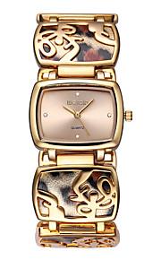 Mulheres Relógio de Moda Quartz Impermeável Lega Banda Leopardo / Casual Prata / Dourada marca