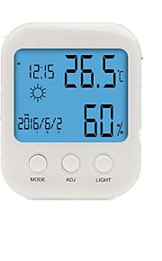 S-WS819 Home Indoor Electronic Hygrometer Large Screen Digital Alarm Clock Calendar Display Backlight Bracket