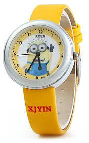 Infantil Relógio de Moda Quartz / Couro Banda Desenhos Animados Amarelo marca