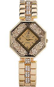 Mulheres Relógio de Moda / Relógio de Pulso Quartz / Aço Inoxidável Banda Legal / Casual Prata / Dourada / Ouro Rose marca