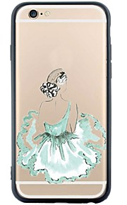 Achterkant Patroon sexy Lady TPU Zacht Geval voor Apple iPhone 6s Plus/6 Plus / iPhone 6s/6 / iPhone SE/5s/5