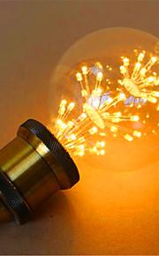 2 E26/E27 LED-globepærer G95 49 DIP-LED 800 lm Gul Dekorativ AC 220-240 V 1 stk.