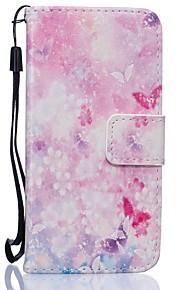 Corpo Completo carteira / Entrada de Cartão / com suporte Borboleta Couro Ecológico Duro Case Capa Para HuaweiHuawei P9 / Huawei P9 Lite