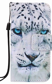 vit leopard målning pu ringer fallet för Apple iTouch 5 6