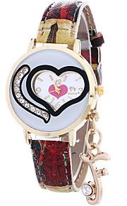 Mulheres Relógio de Moda / Relógio de Pulso Quartz / Couro Banda Legal / Casual Azul / Vermelho / Cinza / Roxa marca