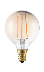 2W E12 LED Filament Bulbs G16.5 2 COB 160 lm Amber Dimmable 120V 1 pcs