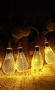 Jiawen 5m 20 geleid metalen daling tring licht patio bruiloft chritma licht vakantie decoratie slaapkamer (AC 110-220V)