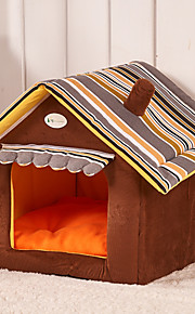 Cat / Dog Bed Pet Mats & Pads Portable Green / Brown / Yellow Plush
