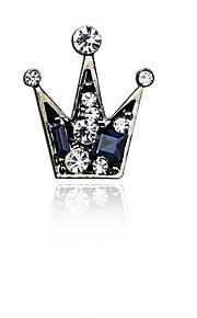 mode vintage diamant krone broche