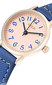 Mulheres Relógio de Moda / Relógio de Pulso Quartz / Couro Banda Casual / Legal Preta / Azul / Cinza / Rosa marca