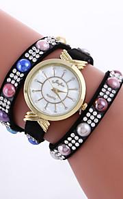 Mulheres Relógio de Moda / Bracele Relógio Quartz / PU Banda Pontos / Casual Preta / Branco / Azul / Vermelho / Rosa / Roxa / Cáqui / Rose