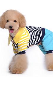 Cani Tuta Blu / Rosa Abbigliamento per cani Inverno / Primavera/Autunno Righe Divertente / Casual /