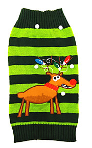 Gatos / Perros Disfraces / Abrigos / Suéteres Verde Ropa para Perro Invierno / Verano / Primavera/Otoño RayasAdorable / Cumpleaños /