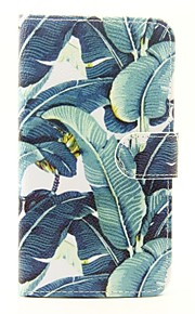 Banana Leaf Pattern PU Leather Full Body Case with Stand and Card Slot for Wiko Lenny 2 Lenny 3 Sunset 2