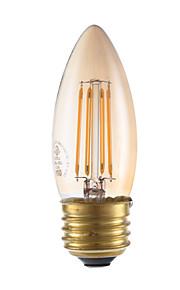 3.5 E26/E27 LED-gloeilampen B 4 COB 300 lm Amber Dimbaar V 1 stuks