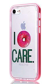 For iPhone 7 etui / iPhone 6 etui / iPhone 5 etui Transparent / Mønster Etui Bagcover Etui Ord / sætning Blødt TPU AppleiPhone 7 Plus /