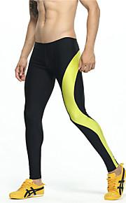 달리기 하단 남성의 통기성 커튼 레저 스포츠 / 달리기 스포츠 비 신축성 슬림 아웃도어 의류 / 애슬레저 옐로우 봄 / 여름 / 가을 클래식 M / L / XL