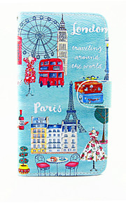 City View Pattern PU Leather Full Body Case with Stand and Card Slot for LG G5