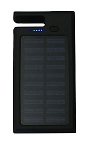 12000mAhpower bank externe batterij Zonne-energielader / Meerdere uitgangen / Zaklamp / Inclusief standaard 12000Output 1:5V 1000mA