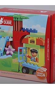 Puzzle brinquedo para presente Blocos de Construir Quadrangular / Cachorros / Carro Plástico acima de 3 Arco-Íris Brinquedos