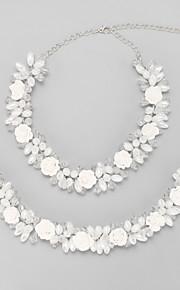 Smykker Halskæder / Hår Smykker Brude Smykke sæt Krystal / Imiteret Perle Frynsetip(s) Bryllup 1set Dame Hvid Wedding Gaver