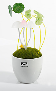 nyhet potten sopp lampe keramisk harpiks nattlys ledet pære sensor lampe mini soverommet lampe energisparing
